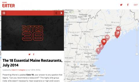 """The 18 Essential Maine Restaurants, July 2014"""