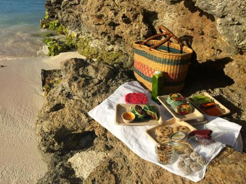 Gorgeous rawfood picnic prepared by Plant Based Daily